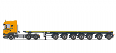 IMC Boekestijn Scania R-Streamline Highline 6x4 with 7 axle Nooteboom Ballasttrailer